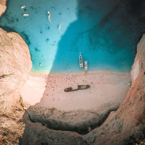 A boat trip to Shipwreck beach in Zakynthos