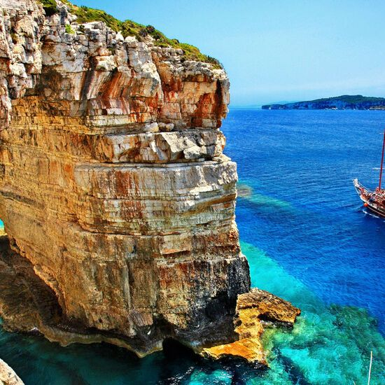 Trypitos (also known as Kamara), a natural rocky arch at Paxos island