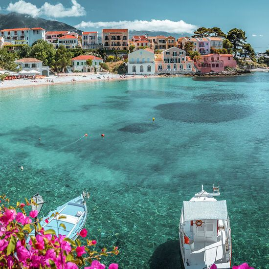 Many people think Assos tiny port is the prettiest settlement on the island