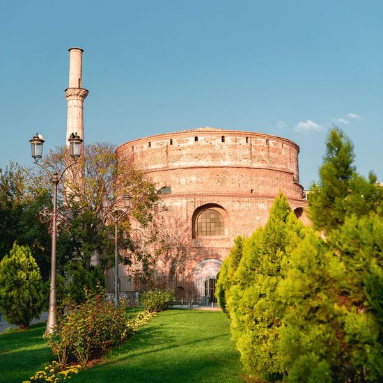 The UNESCO-protected Rotunda is part of the Galerian Complex of Thessaloniki
