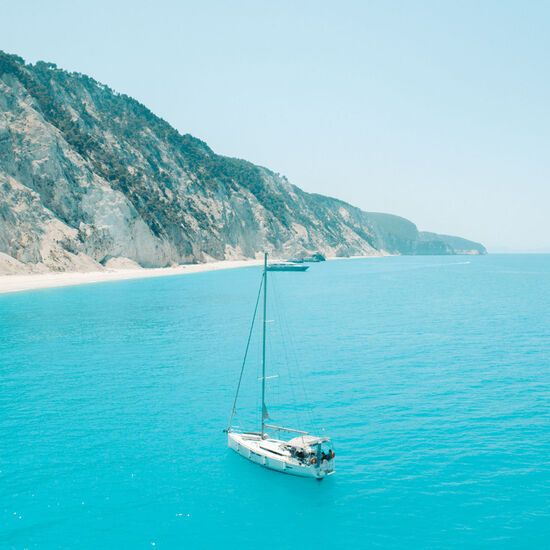 The 2km stretch of sand at Egremni is considered one of the most impressive in the Mediterranean