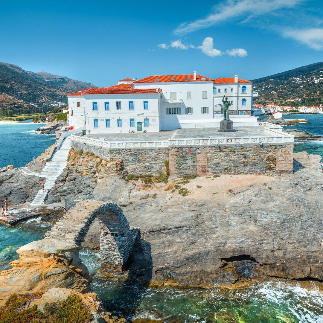 Batsi village Andros island Cyclades | Andros greece