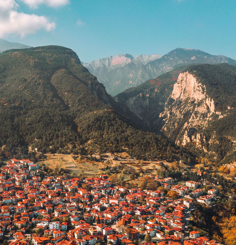 Litohoro village is the starting point for day trips on the mountain