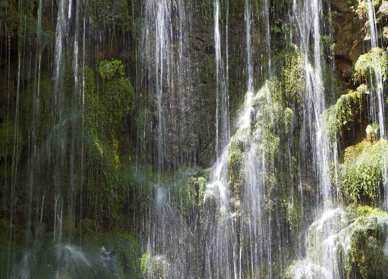 Waterfalls at Argiroupoli springs in Crete island Greece