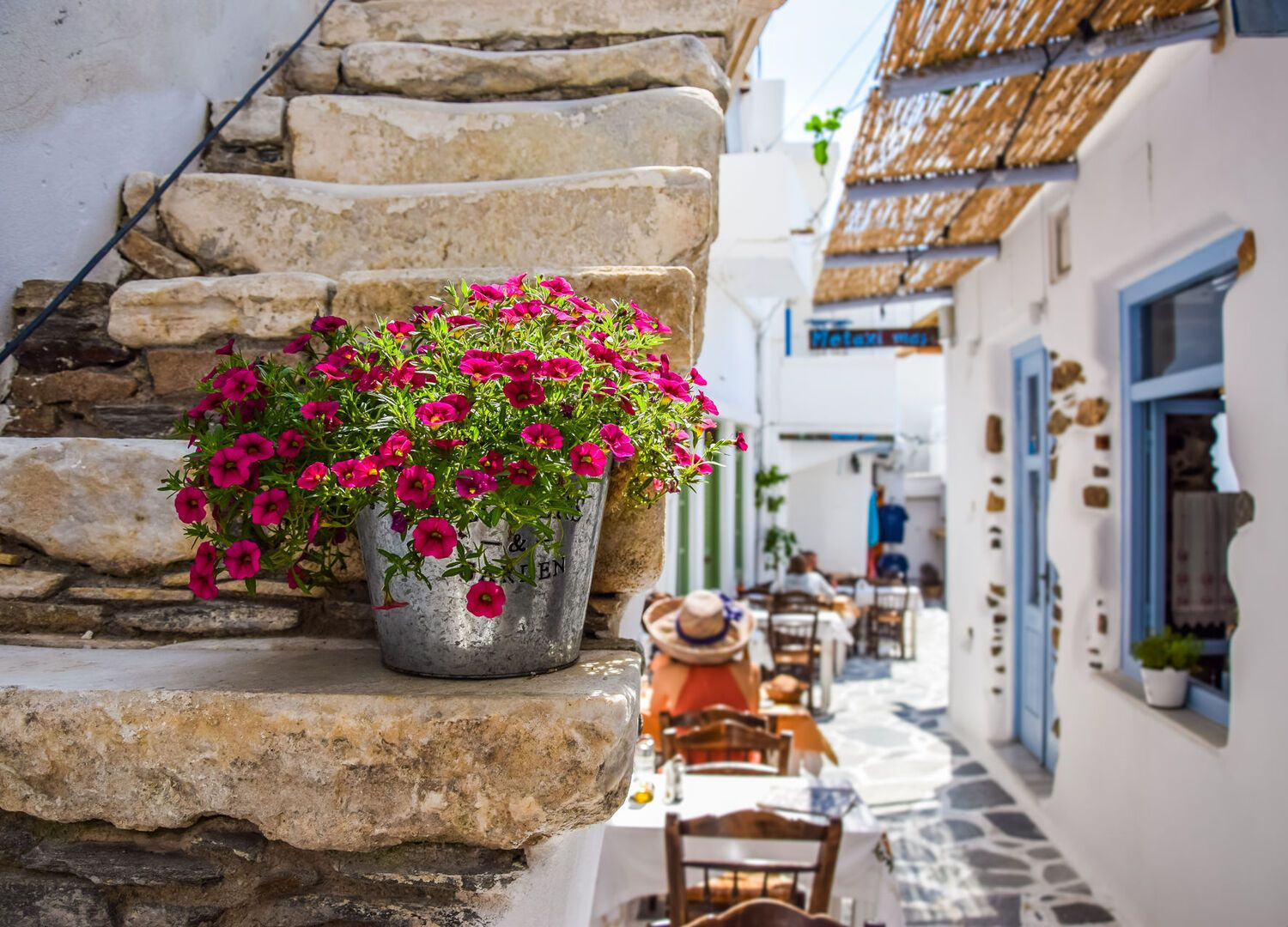 Traditional street on Naxos