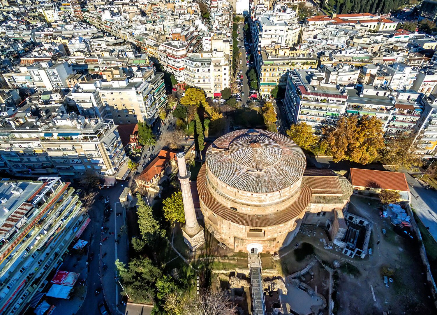 Aerial View of Rotonda in Thessaloniki
