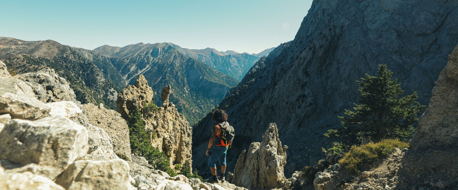 Hiking at Samaria gorge