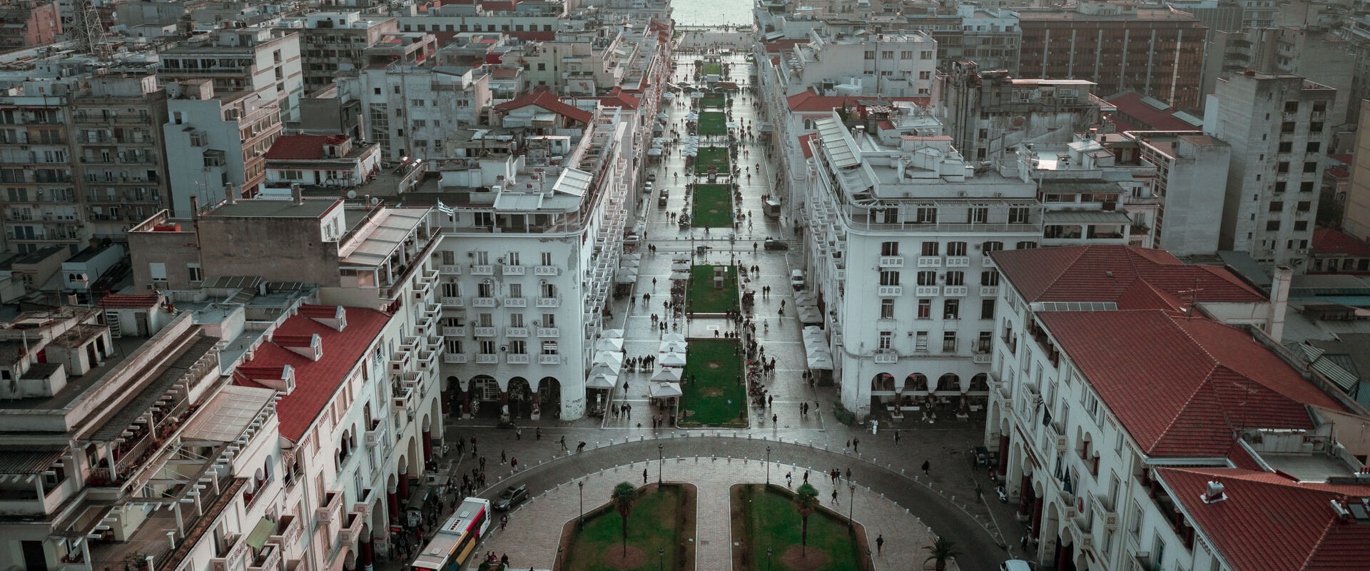 Aristotelous square from above