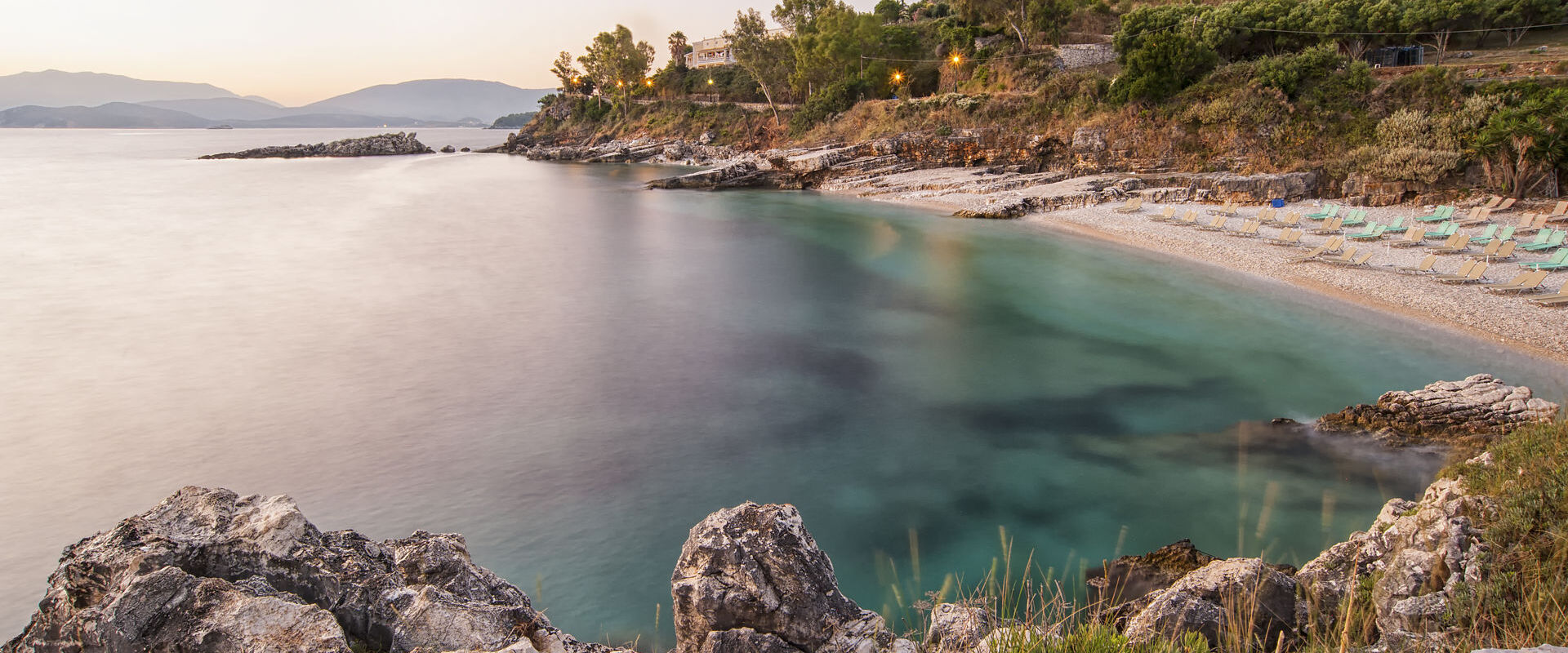 Beach at dawn, Corfu