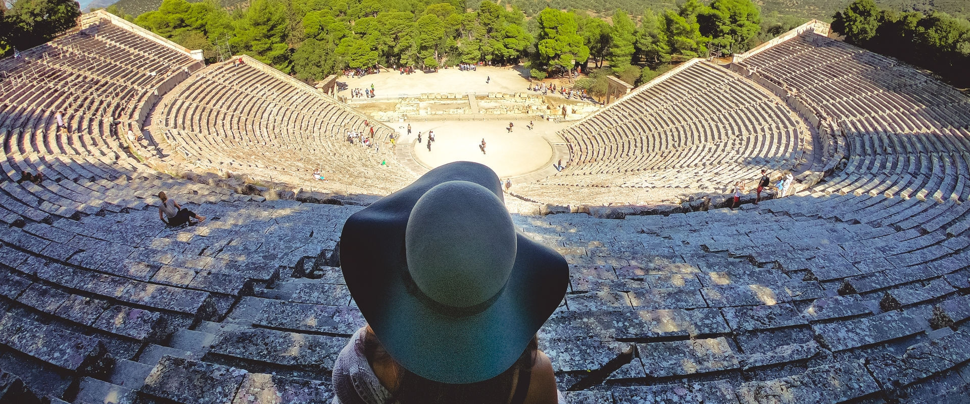Overlooking from the top of Ancient theater of Epidaurus