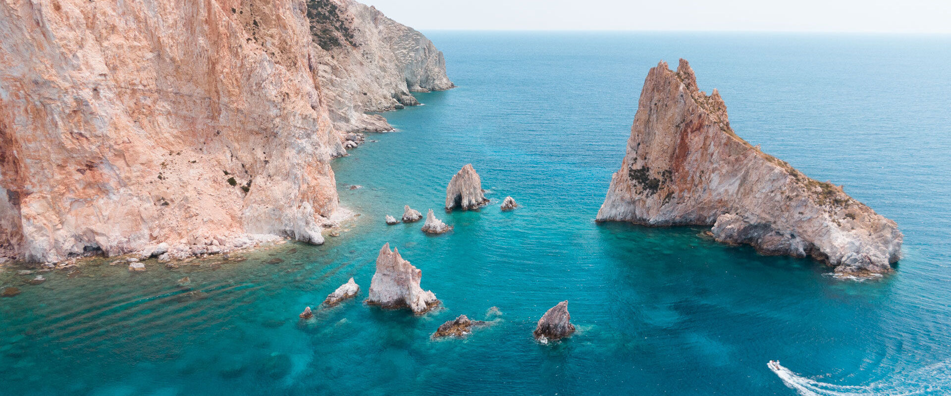 Polyegos, not just a virgin landscape of pristine beaches, but an escape for rare and protected wildlife, just off Milos