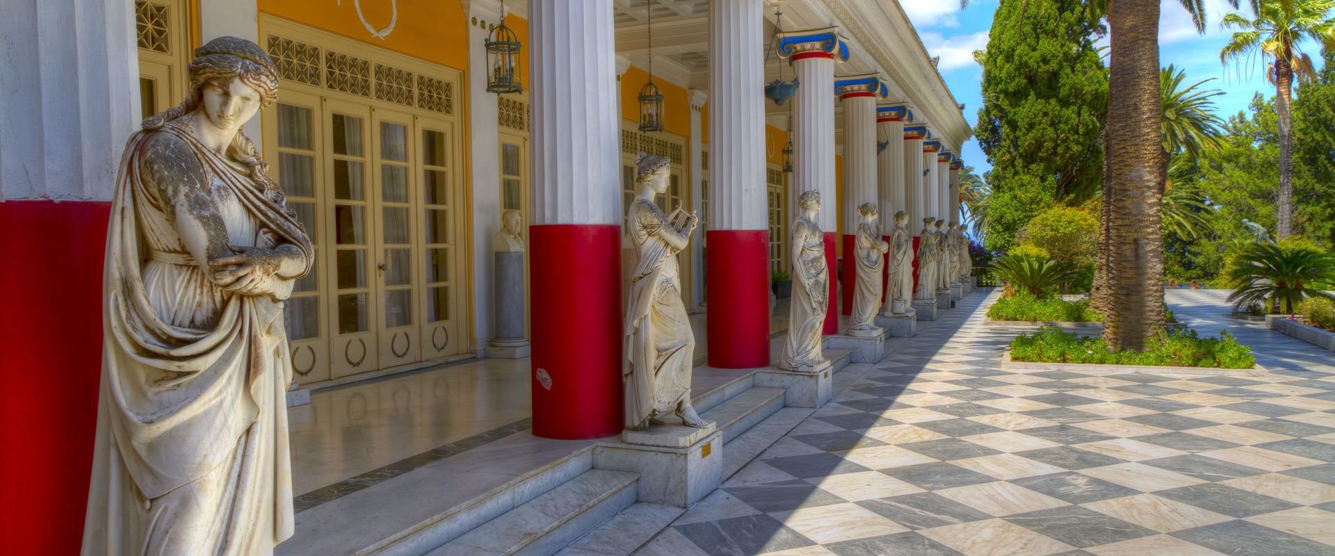 Achillion palace, Corfu island, Greece
