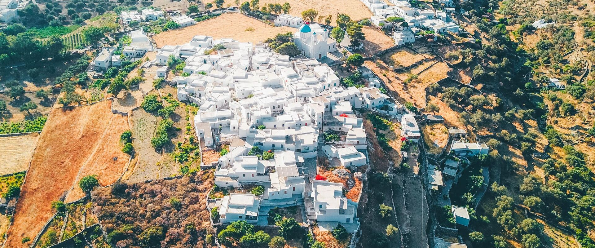 Sifnos' Hora from above