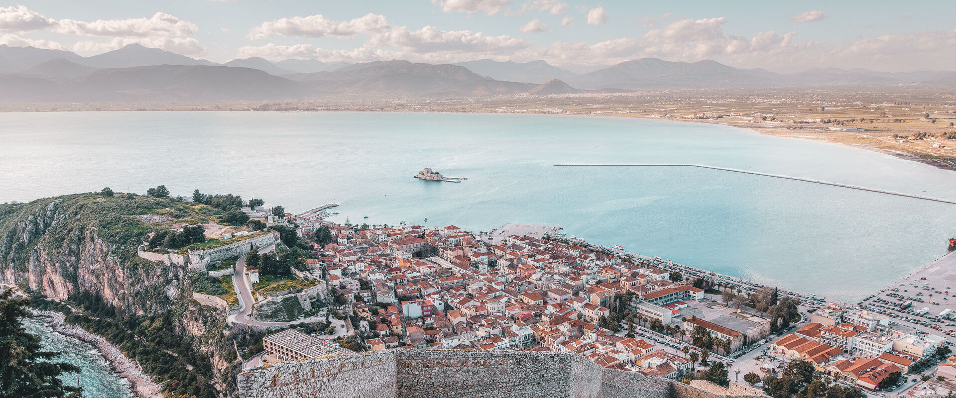 Far beyond the architecture, and the sheer size of the castle-like fortification, what you'll remember most are the panoramic views of Nafplio and the gulf beyond