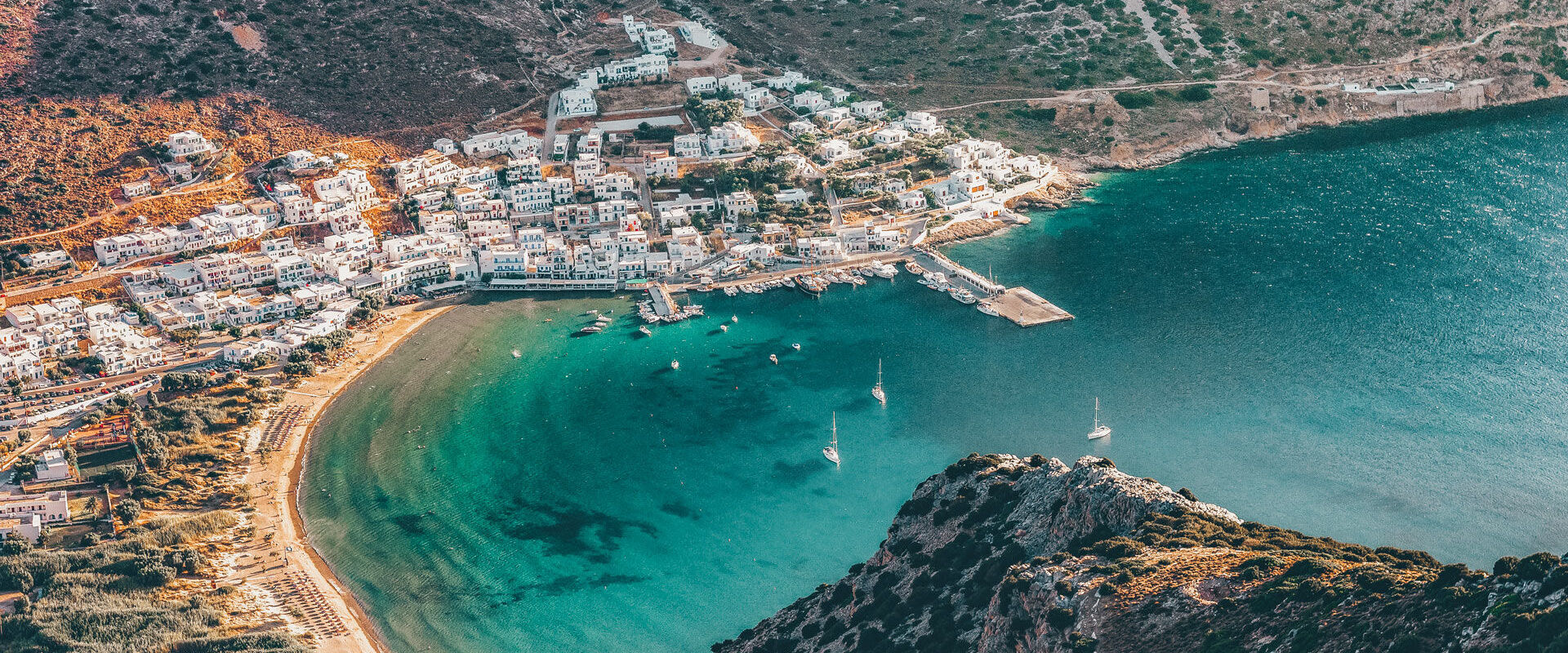 Kamares village, the main port of Sifnos island