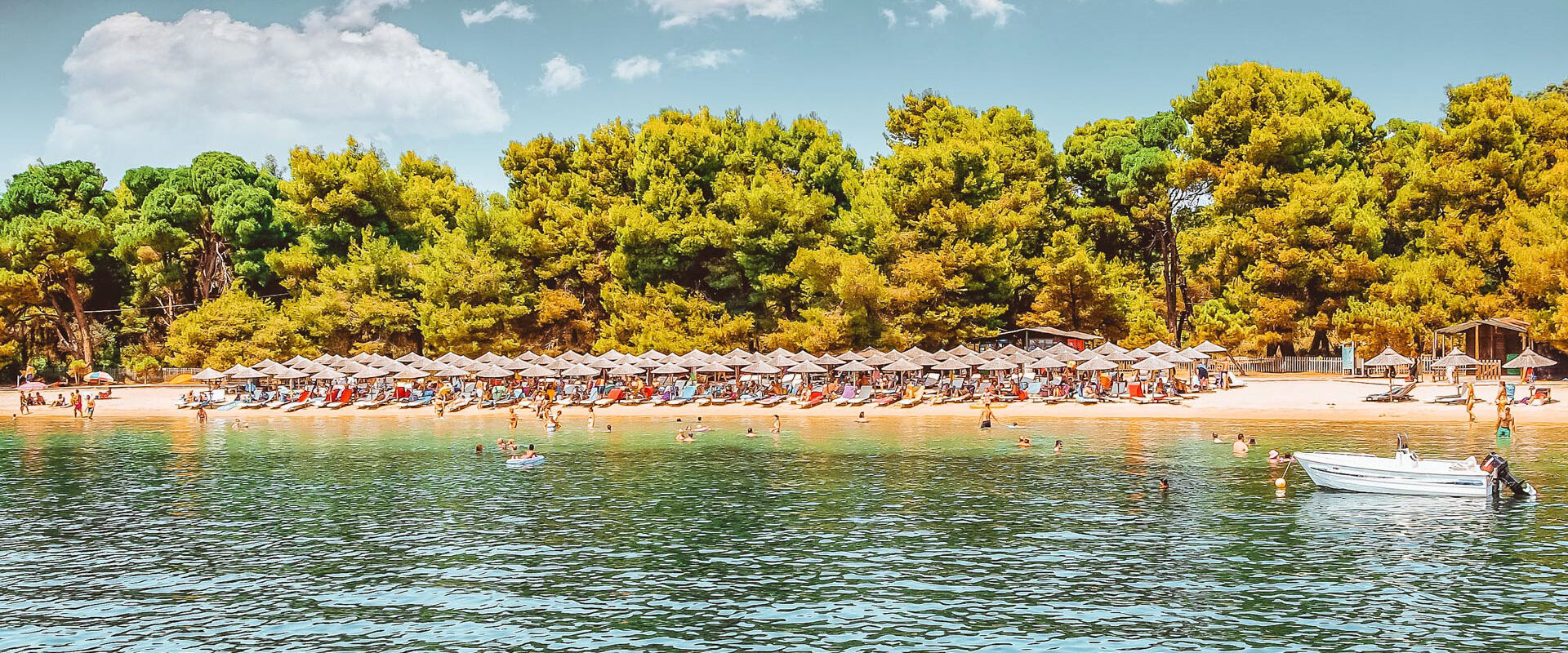 Koukounaries has been winning over the hearts of visitors to Skiathos for decades
