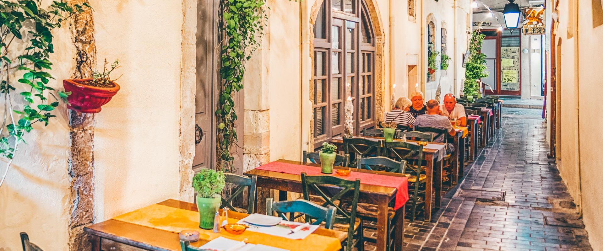 The heart of the historic centre of Rethymno, filled with shops with local products, cafes and tavernas
