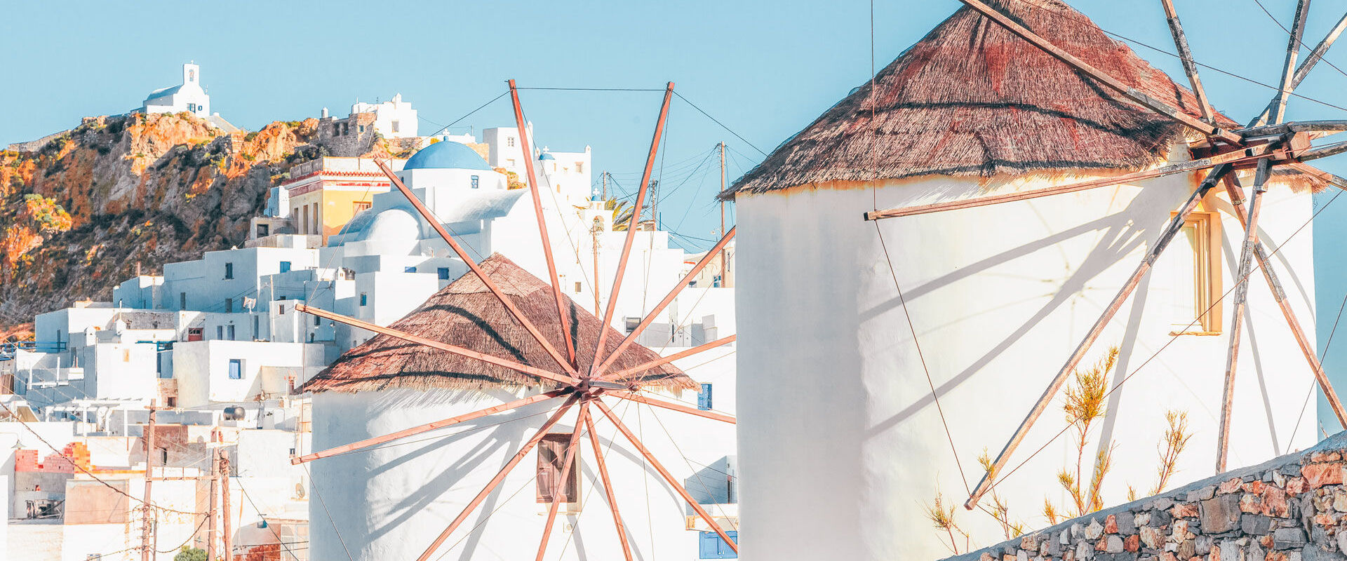 The iconic windmills of Serifos, where you'll stop for that postcard-perfect shot of town