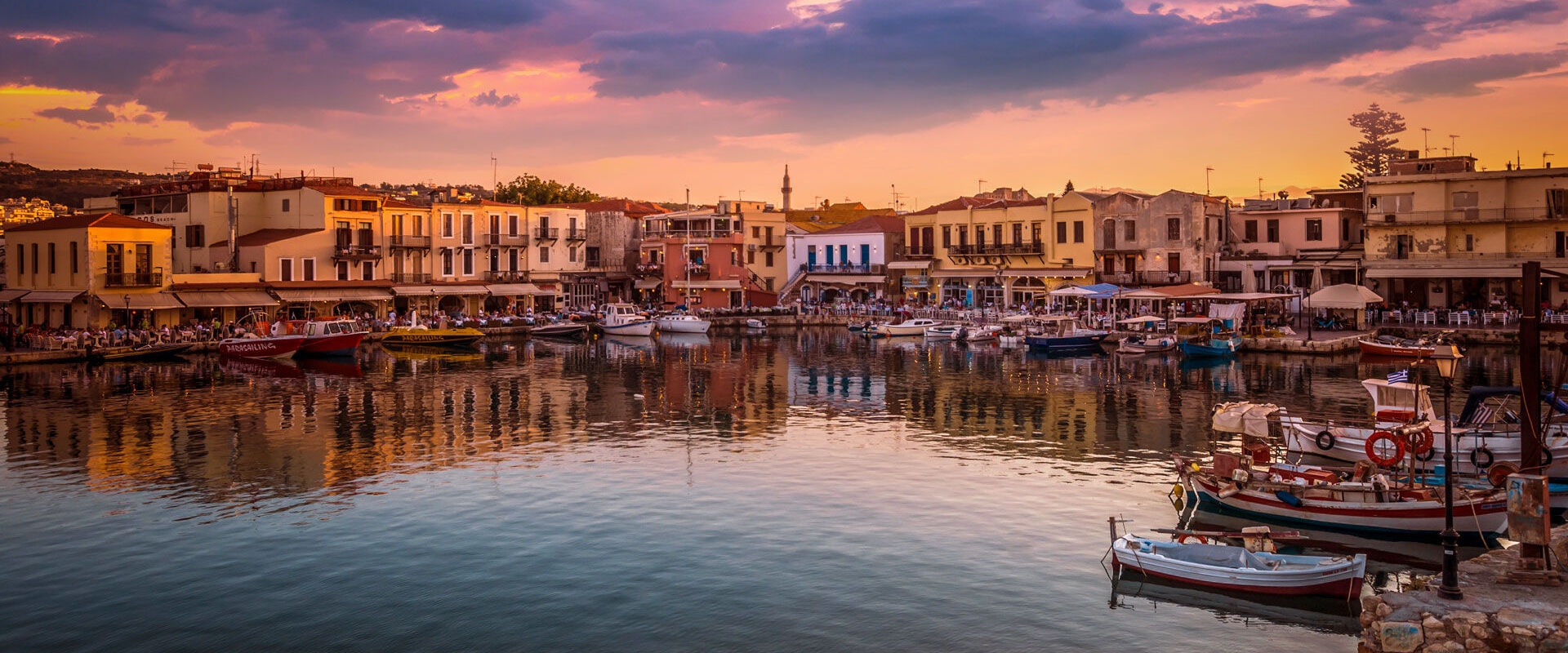 The Venetian Harbour of Rethymno, is the ideal place to enjoy fresh fish in a seaside taverna