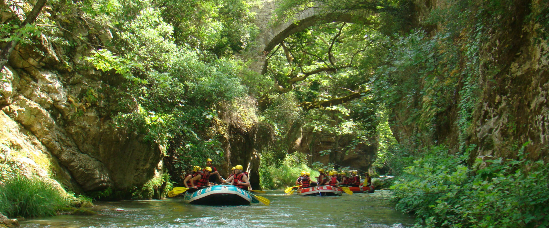 Rafting on the Lousios river in Mountainous Arcadia