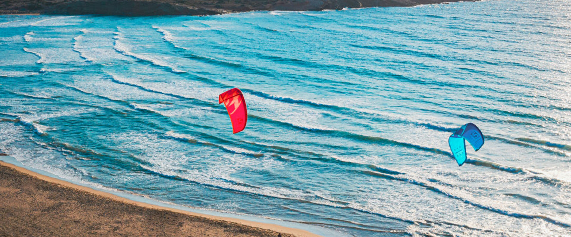 A wind- and kite-surfers heaven in Rhodes