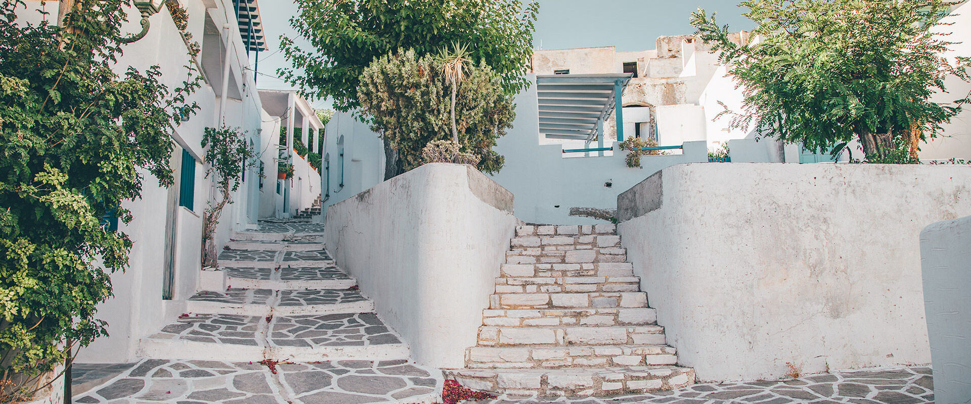 Alleyways in Marpissa village in Paros