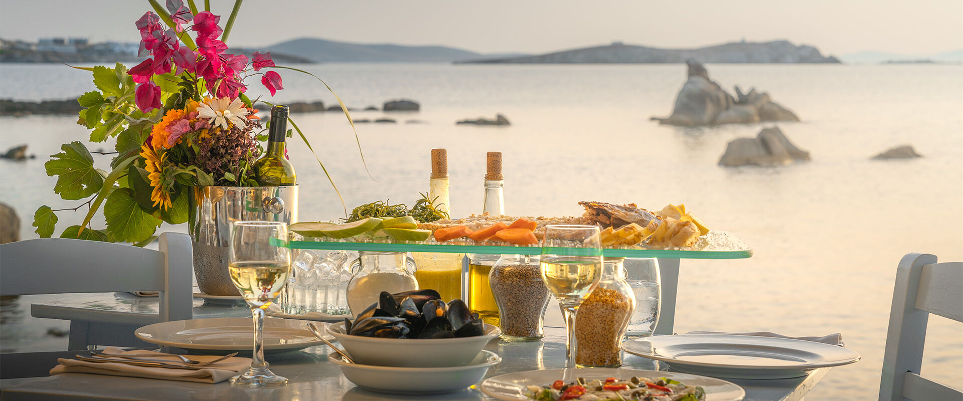 From a meal in a traditional Greek taverna to the most refined international tastes, there's an elegance and style to the food that sets Mykonos apart.