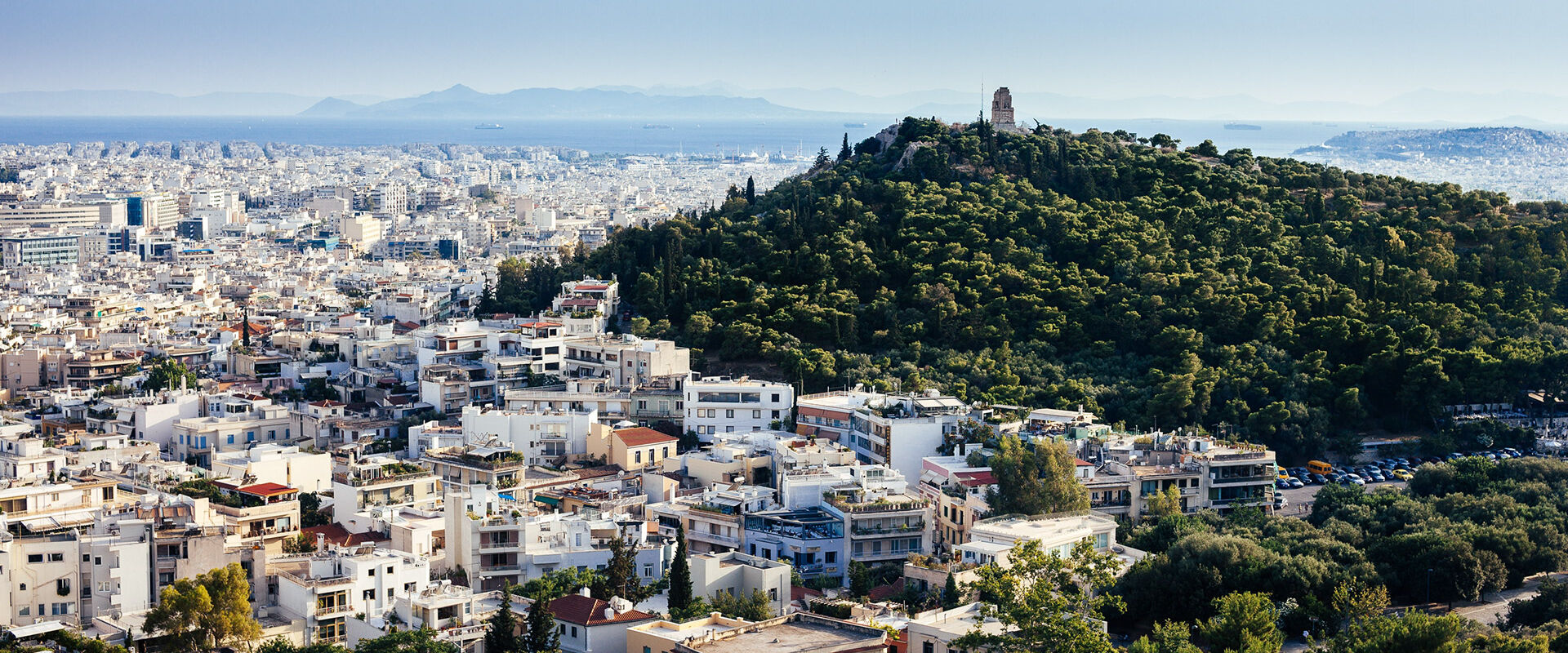 View from Lycabetus hill in Athens