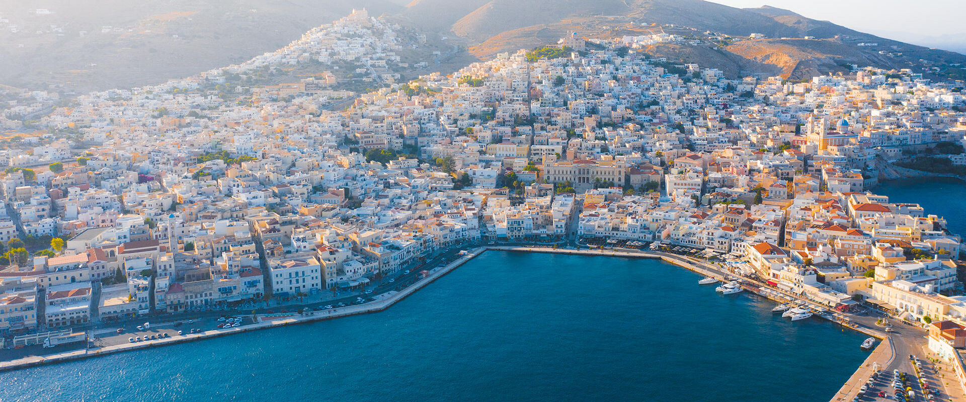 You know you're in the heart of the Cyclades when you're in Ermoupoli, the port-town of Syros