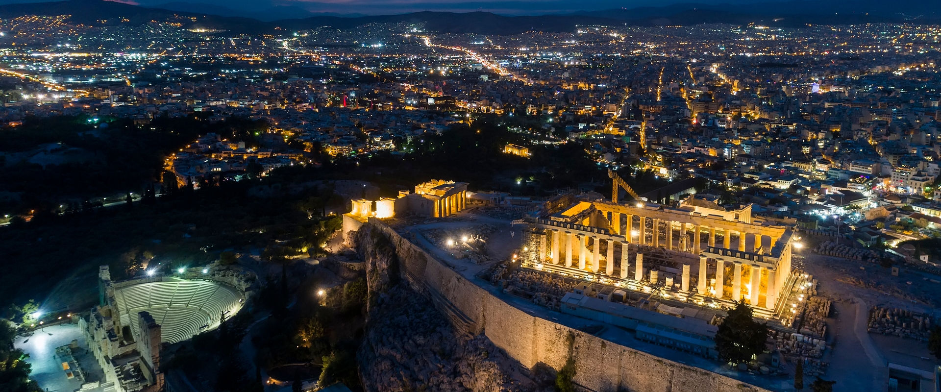 Aerial-view-of-Parthenon-and-Acropolis-in-Athens