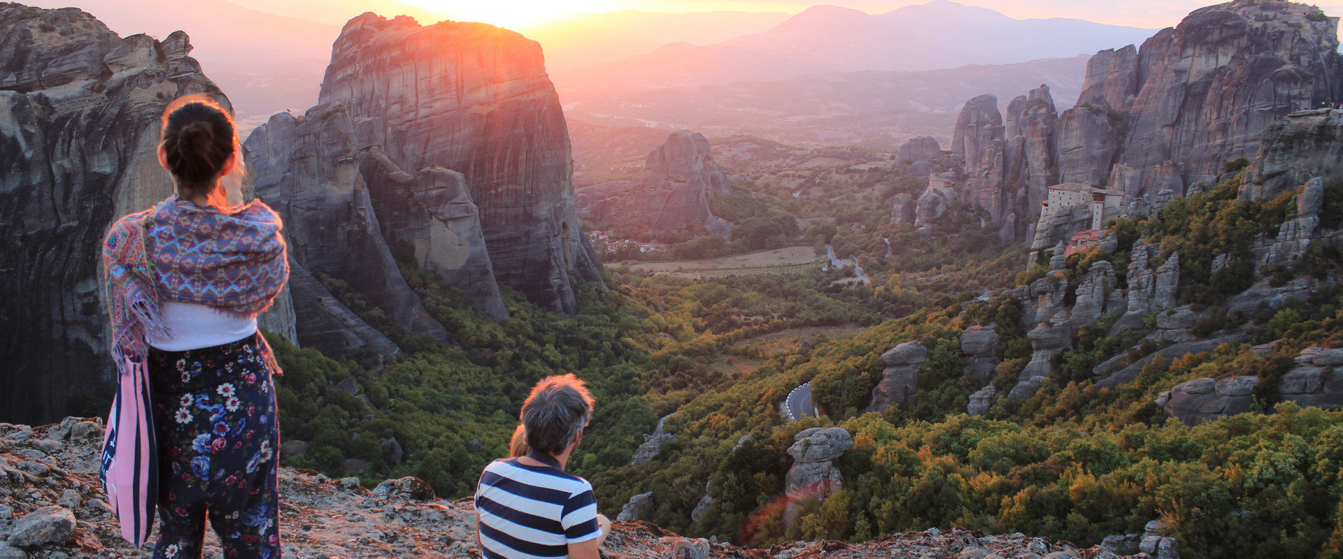 Sunset from Above, Meteora, Greece
