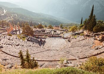Feel the aura of Delphi's world-famous archaeological site