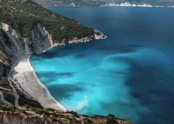 The wild beauty of Kefalonia's Myrtos beach