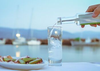Sampling the ouzo tradition of Plomari