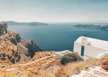Exploring the hiking trails of Santorini
