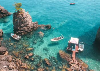 A boat trip to Paradise beach in Corfu