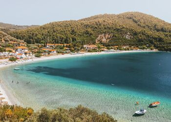 A day on Panormos beach, soaking up the best of Skopelos