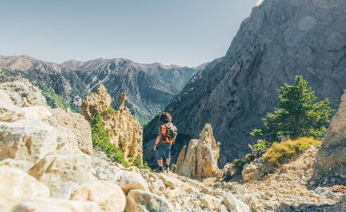 Containing 450 species of plant and animal life, the Samaria Gorge is a UNESCO-protected Biosphere Reserve