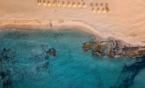 Elafonisi beach in Crete has a wonderful beach with pink coral sand