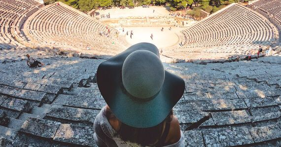 The ancient theatre of Epidaurus, A Unesco World Heritage Site