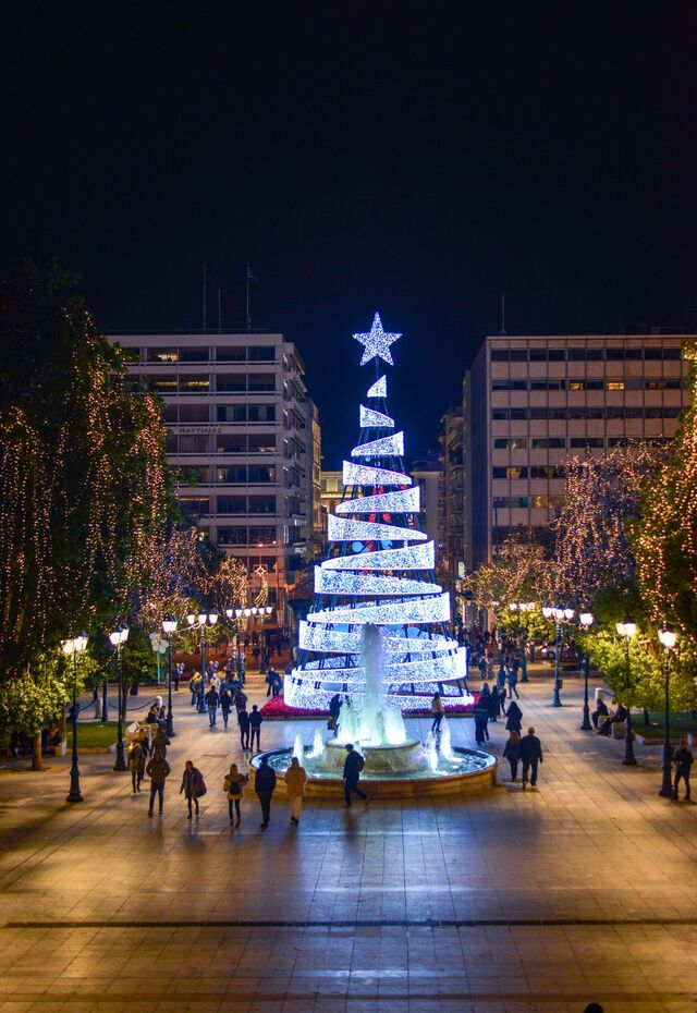 City center, Christmas in Athens