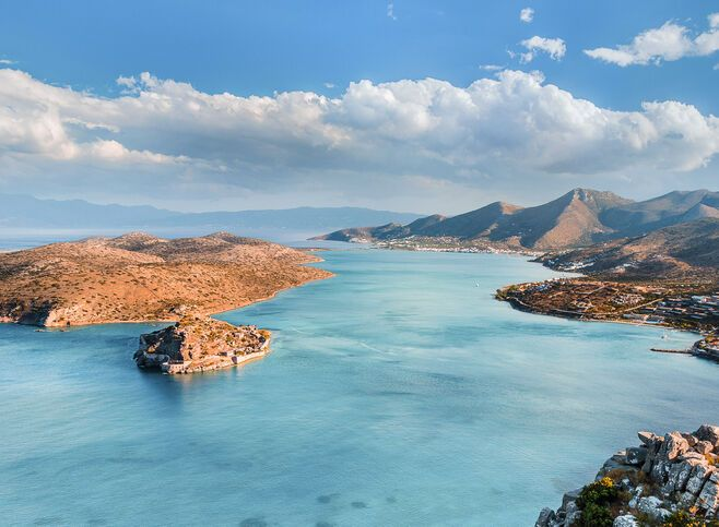 Elounda Gulf and Spinalonga island