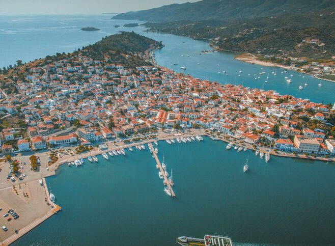 Birdsview of Poros island