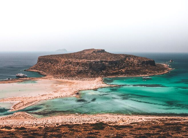 The magical blend of blues you're presented with as you approach Balos from above