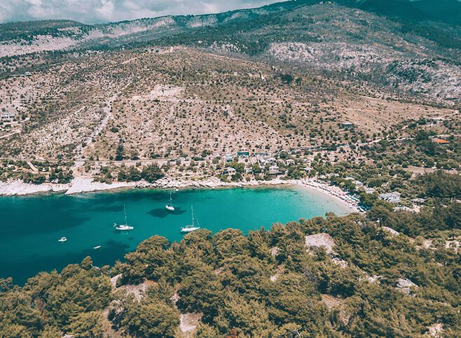 Aliki beach in Thassos_edit