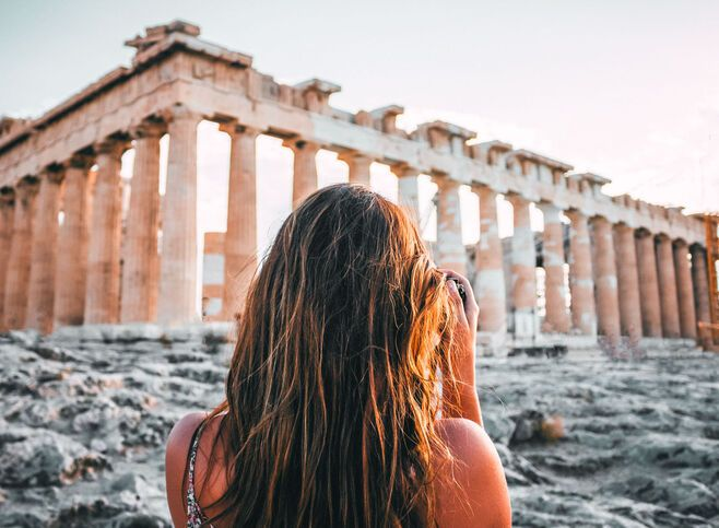 Here she is, standing proudly at the top of the Sacred Rock… the best known temple of the ancient world, the Parthenon