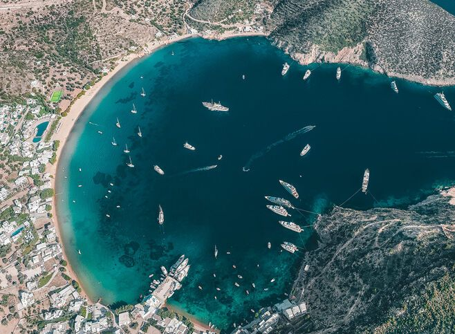Port on Sifnos from above