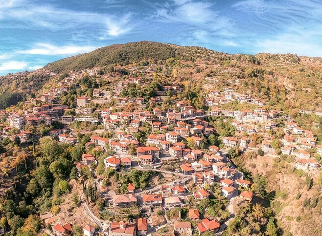 The stone mansions of Stemnitsa from above