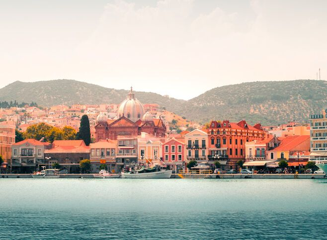 The Town of Mytilene, capital and harbour of Lesvos island