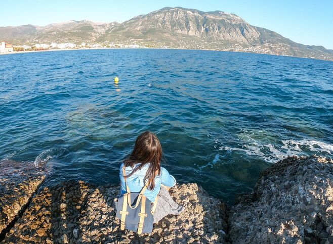 Staring at the gulf of Messinia, Kalamata